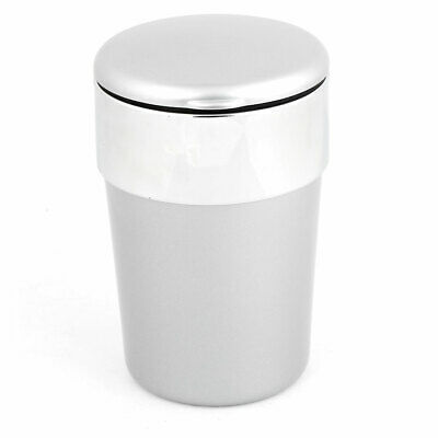 Automatic Flap Lid Gray Plastic Cigarette Smokeless Ashtray Container