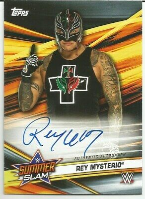 2019 Topps Wwe Summerslam Rey Mysterio Jr On-Card Auto Sp 619 Autograph Lucha