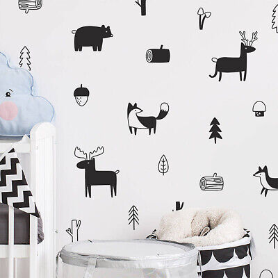 Style Home Decoration Tree Wall Stickers Wall Art Modern Decals Woodland Mural