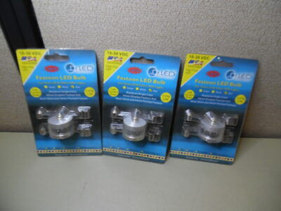 Dr. LED 8001573 Red Festoon Star LED Replacement Bulb - LOT OF 3