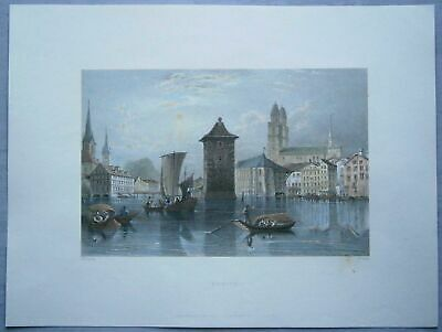 1834 Bartlett print ZURICH, SWITZERLAND (#64)