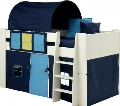 Steens Kids Tent for Mid Sleeper Bed, Dark/Light Blue