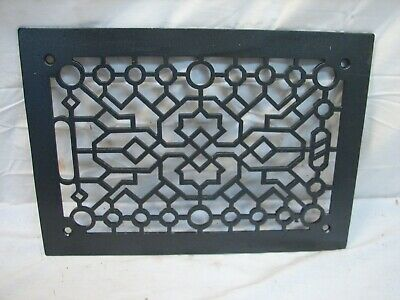 Cast Iron Floor Ornate Register Heat Grate Vent Grille Architectural 8 X 12 G