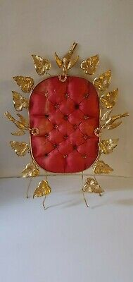 FRENCH BRIDAL CUSHION 19th CENTURY.   NAPOLEON III PERIOD