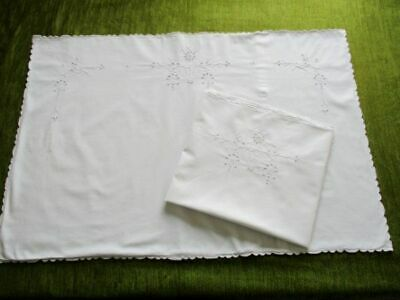 Pr.antique Pillowcases-Madeira Hand Embroidery Decoration