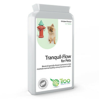 Tranquil-Flow Pet Urinary Support 120 Tablets For Cats and Dogs Chicken Flavour