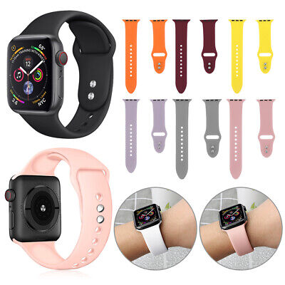 Strap Watch Band Bracelet Silicone For Apple Watch Series 4 3 2 1 iWatch