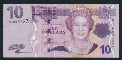 "Fiji: 2012 $10 ""LAST QEII PORTRAIT ISSUE"" Sig Whiteside. Pick 111b"