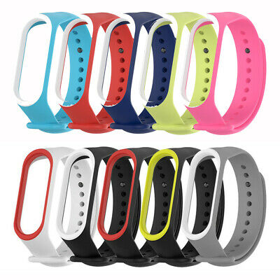 Color Sports Bracelet Watch band Wrist Strap Silicone For Xiaomi Mi Band 4 3