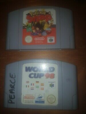 2x Nintendo 64 Games | Pokemon Snap | World Cup 98 | SNES Cartridges Only