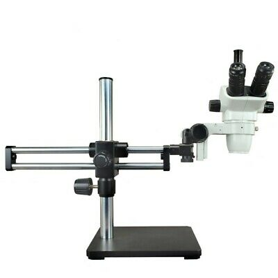 3.4X-45X Zoom Stereo Trinocular Microscope+0.5X Auxiliary Lens+Heavy Boom Stand