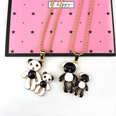 Jewelry Vintage Womens Bear Cartoon CZ Crystal Chain Necklaces Pendants Gift New