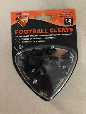 SOF SOLE Replacement Football Shoe Cleats 1//2 inch Black tips wrench