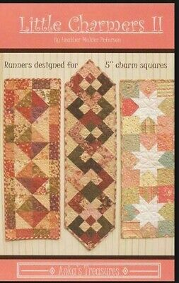 easy beginner simple Table Runner PATTERN for Charm Squares or scraps