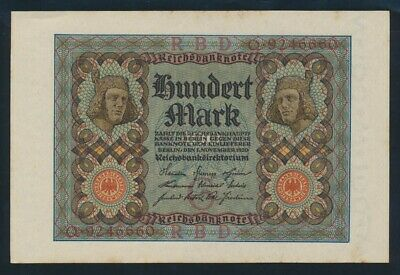 "Germany: Weimar Republic 1-11-1920 100 Mark DEVIL'S NO ""666"". P69a UNC Cat $27+"
