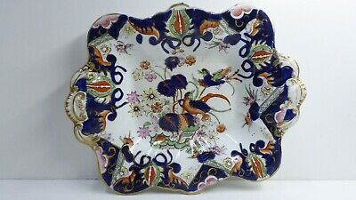 Masons Patent Bowl Hand Painted Birds Pheasants Antique Ironstone Pottery