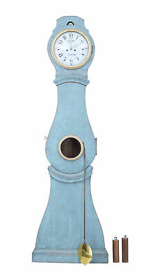 19Th Century Swedish Painted Longcase Clock