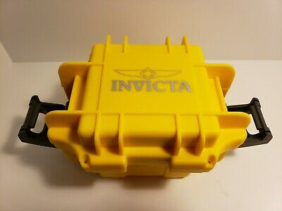 Invicta Waterproof Hard Yellow Plastic Watch Box Travel Storage Case-See Details