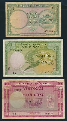 "South Vietnam: Vietnam 1955-99 ""COLLN 8 DIFFERENT"" incl Lucky No ""777"". P1a-115a"