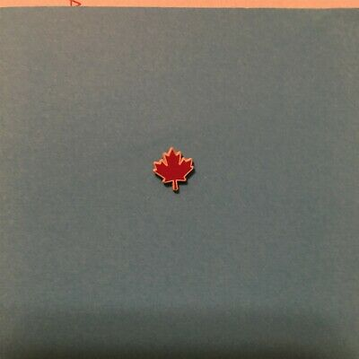 Souvenir Lapel PIN Badge: Canadian red and white maple leaf pin CANADA - small -