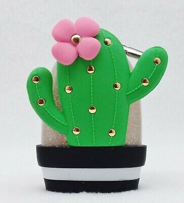 1 Bath & Body Works CACTUS IN POT Gold Pocketbac Holder Sanitizer Case Clip