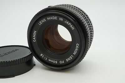【NEAR MINT】 Canon New FD 50mm f/1.8 NFD MF Prime Lens FD mount from Japan #1079