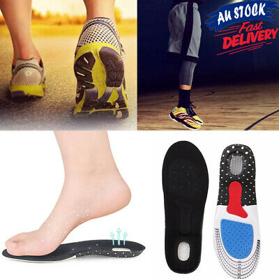 Support Flat Foot Plantar Fasciitis Relief Orthotic Insoles Correcting Pads Arch