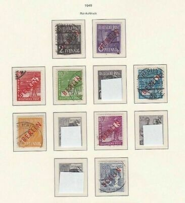 Berlin 1949 Overprints Used Stamps On 1 Page Cat £120  R 2511