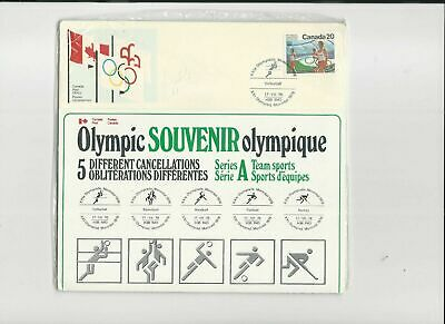 Olympic Souvenir 1976 25 Covers Different Sports Different Cancellations