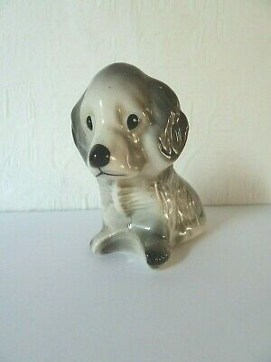 Vintage Ceramic Dog Puppy Figure with Marks