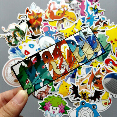 60PCS POKEMON PIKACHU Cartoon Stickers Skateboard Laptop Luggage Car