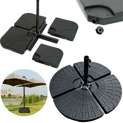 4x Square& Fan Parasol Base Stand Weights for Banana Hanging Cantilever Umbrell
