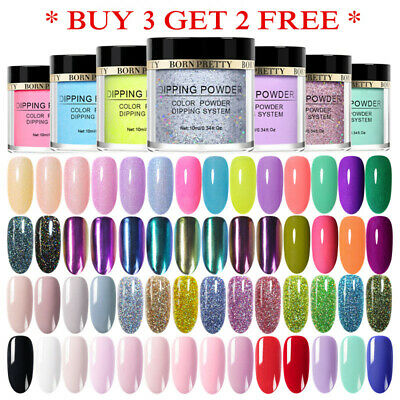 BORN PRETTY Holographic Dipping Powder Chameleon Nail Art Dip Liquid Starter Kit