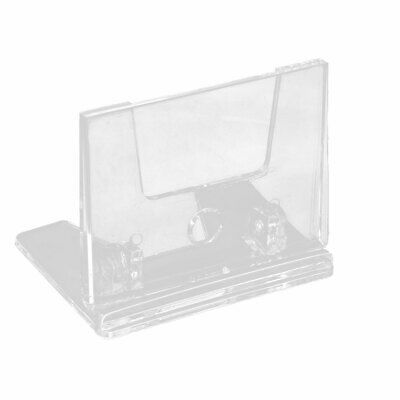 Company Office Countertop Plastic Business Name Card Holder Display Stand