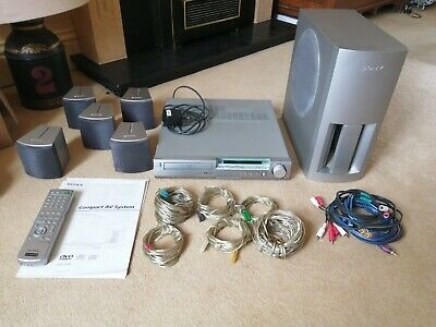 Sony DAV-S300 Home Theater System with speakers and remote
