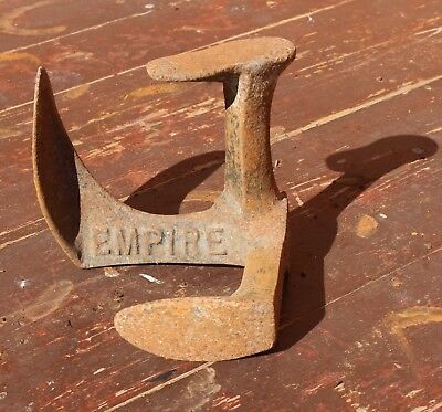 Antique Cast Iron Empire Cobblers Boot Shoe Last Doorstop