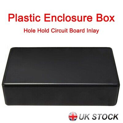 5x ABS Plastic Enclosure Box For Electronic Project Circuit Black Case DIY Tool