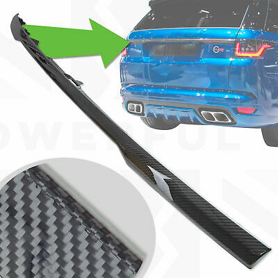 Tailgate boot trim strip in Carbon Fibre for Rover Sport L494 SVR upgrade trunk