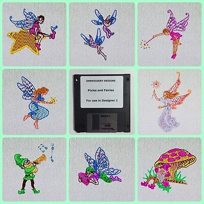 Pixies and Fairies Embroidery Designs Disk for Husqvarna Viking  Designer 1