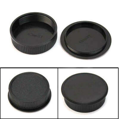 42mm Plastic Front Rear Cap Cover For M42 Digital Camera Body And Lens Black**