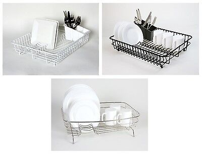 Delfinware Large Plastic Coated Stainless Steel Wire Sink Plate Cutlery Drainer