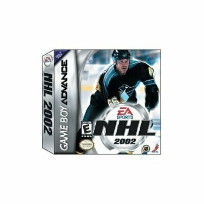 EA Sports NHL 2002 For GBA Gameboy Advance Hockey Game Only 7E