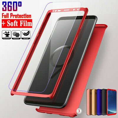 360° Full Screen Protector Case For Samsung Galaxy S8 S9 Plus Note 8 9 S7 Edge