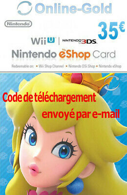 Nintendo Eshop CARD 35€ Carte de Jeu Console compatible 3DS/Wii U/Switch[NEUF]