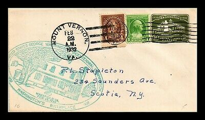 Dr Jim Stamps Us Washington Bicentennial Cover Multi Franked Mt Vernon