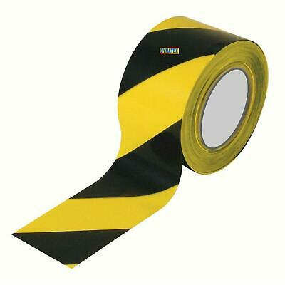 Hazard Warning Tape Yellow/Black Self Adhesive Marking Safety Danger Caution NEW