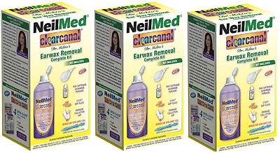 NeilMed Clearcanal Ear Wax Removal Complete Kit 2.5oz 75mL - 3 Pack