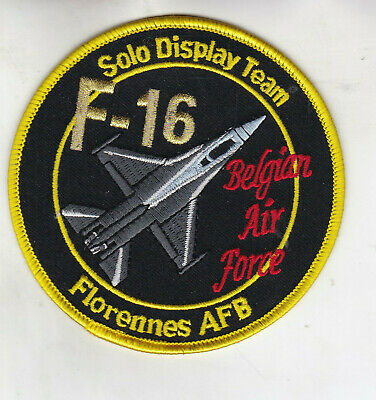 Org Patch:   F-16  Solo Display team Florennes AFB Belgian Air Force