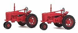 Walthers Scenemaster Ho Scale Farm Tractor Red (2) 949-4160