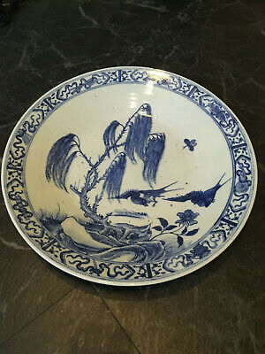 Wonderful Large Chinese 19Thc Charger/Dish Birds 1.7Kgs Fab Item